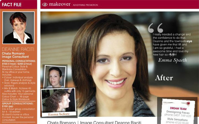 Emma-Spaeth-wins-a-makeover-Queensland-Newspaper-1