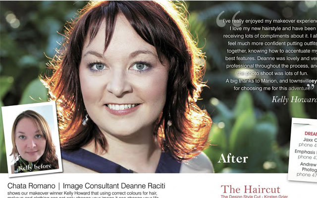Kelly-Howard-gets-a-Makeover-Queensland-Newspaper-1