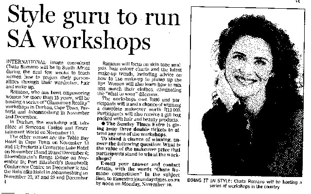 Style-Guru-to-run-SA-Workshops-Pretoria-Newspaper