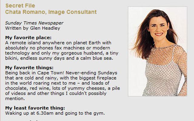 Secret-file-Chata-Romano-Image-Consultant-Sunday-Times-Newspaper